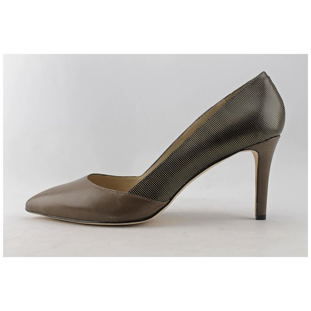 Carolinna Espinosa Womens Socialite Leather Pointed Toe BRZ/TPE Size 8.5