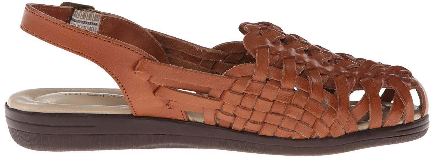 bbd151f37a84 Softspots Womens Tobago Leather Closed Toe Casual Strappy Sandals