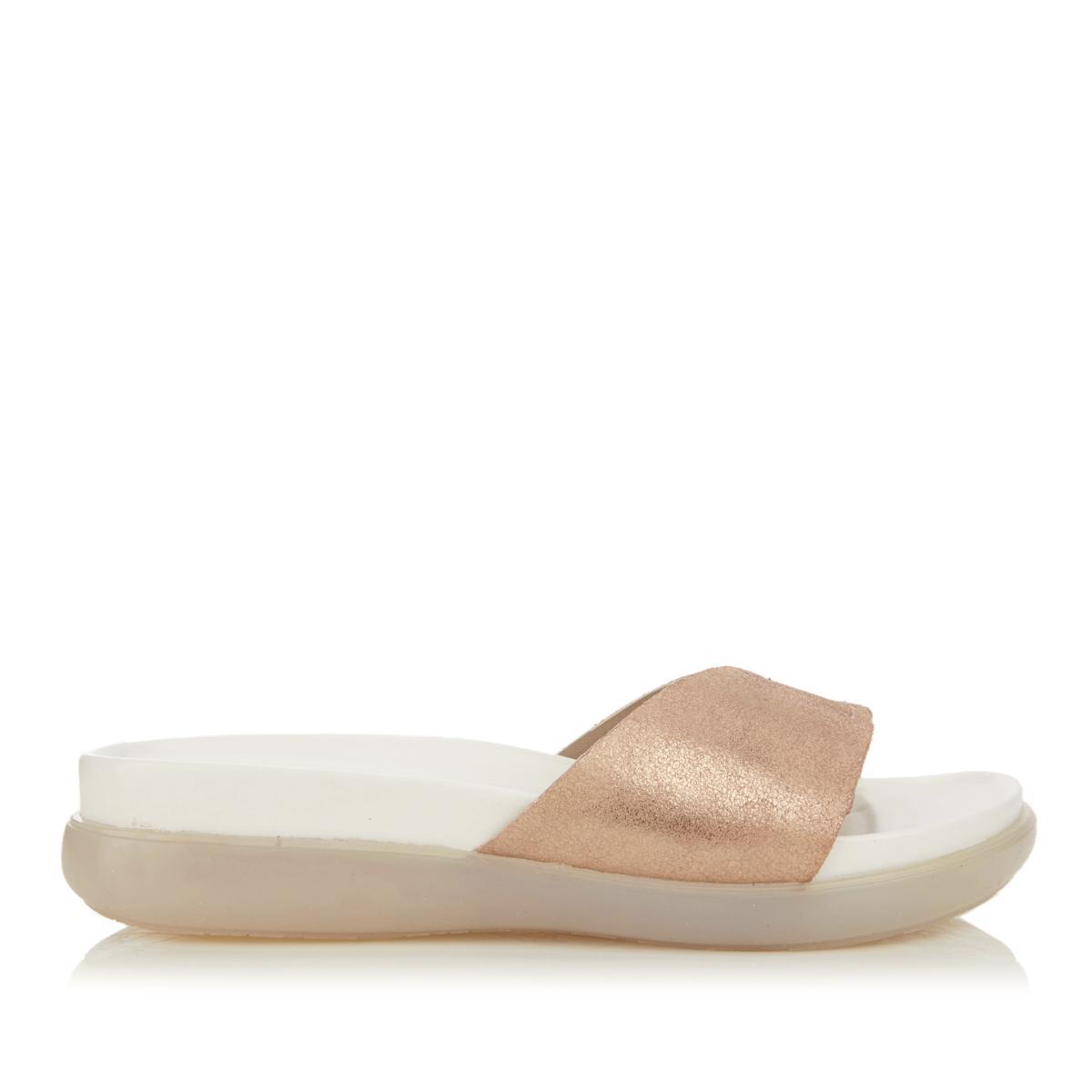 16e200557f3 Details about Donald J Pliner Womens Hollie Leather Open Toe Casual Slide  Sandals