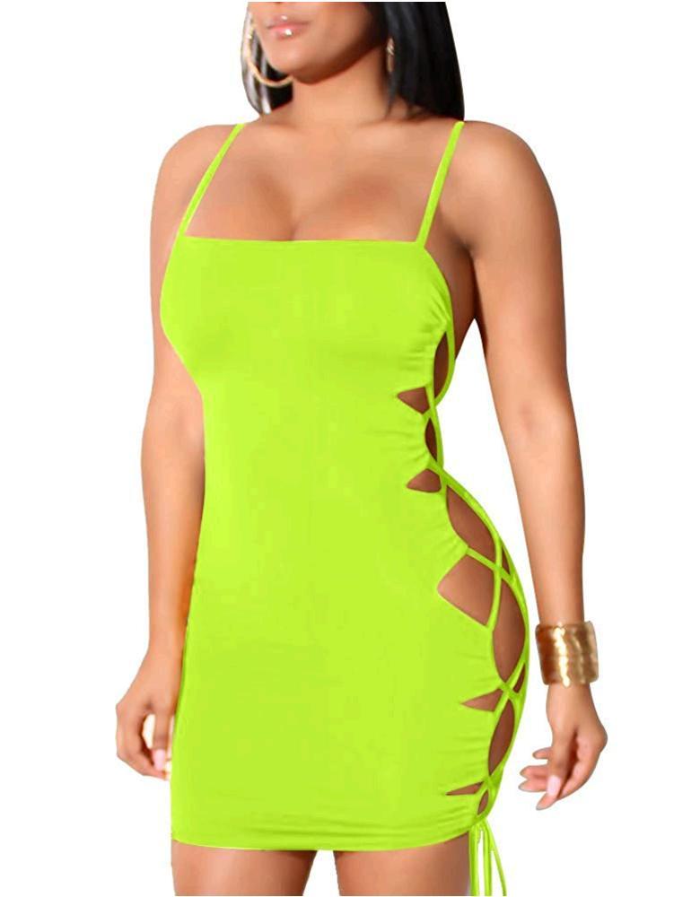 Cut out dresses slit dresses cutaway prettylittlething