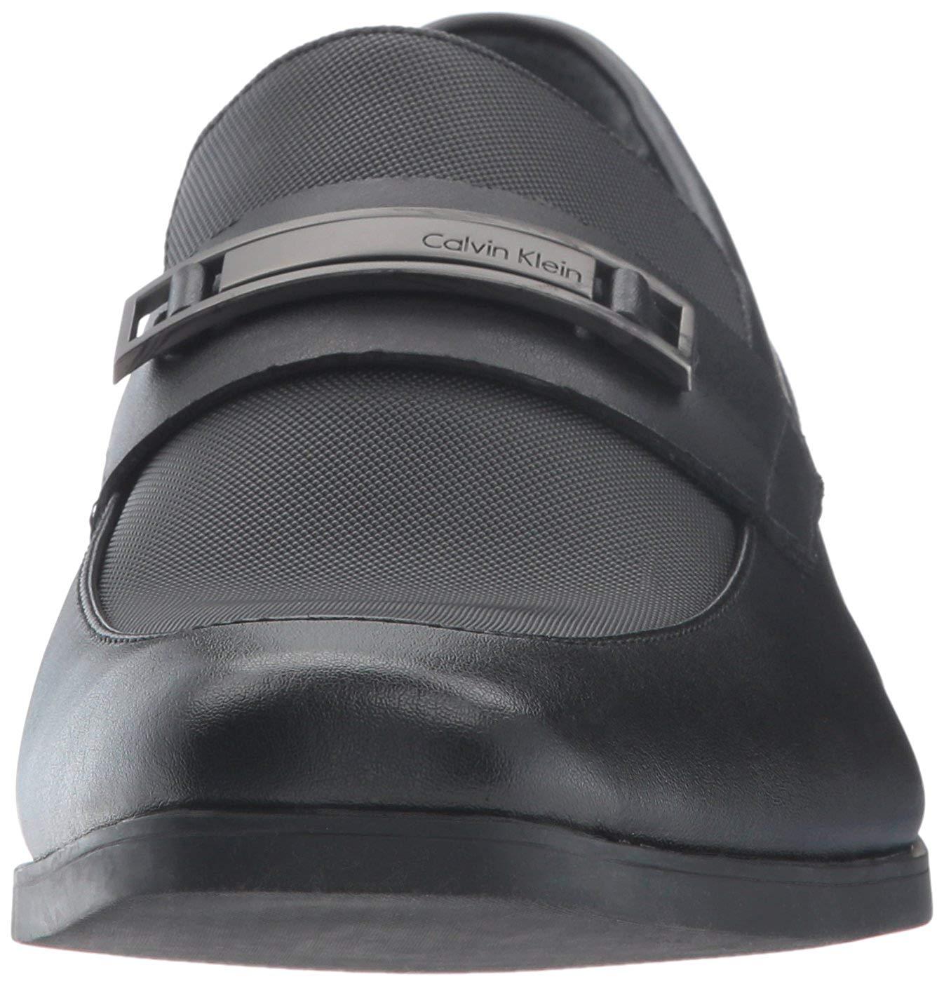 Calvin-Klein-Men-039-s-Jameson-Soft-Leather-City-Emboss-Slip-On-Loafer thumbnail 8