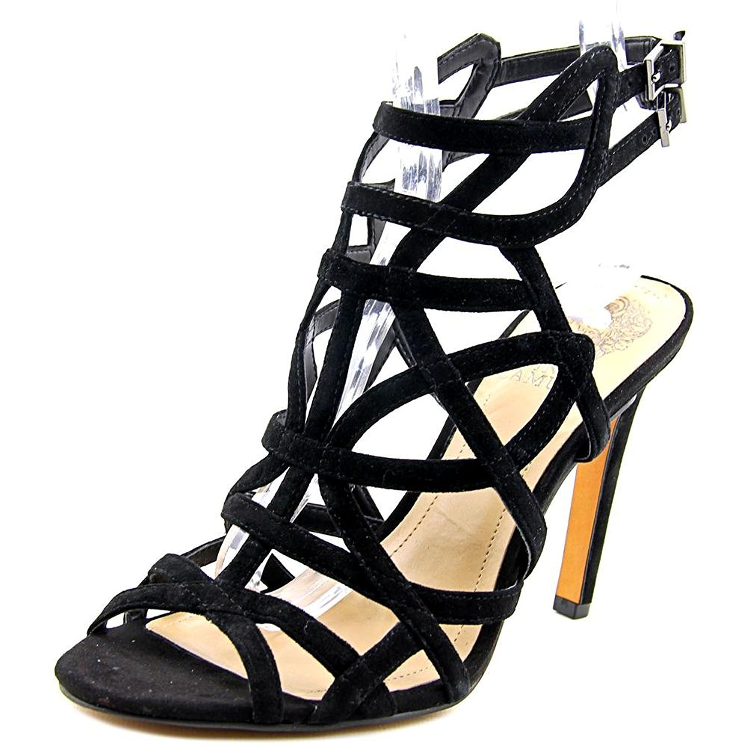 Vince Camuto Womens kenna Open Toe Casual Ankle Strap Sandals Black Size 65