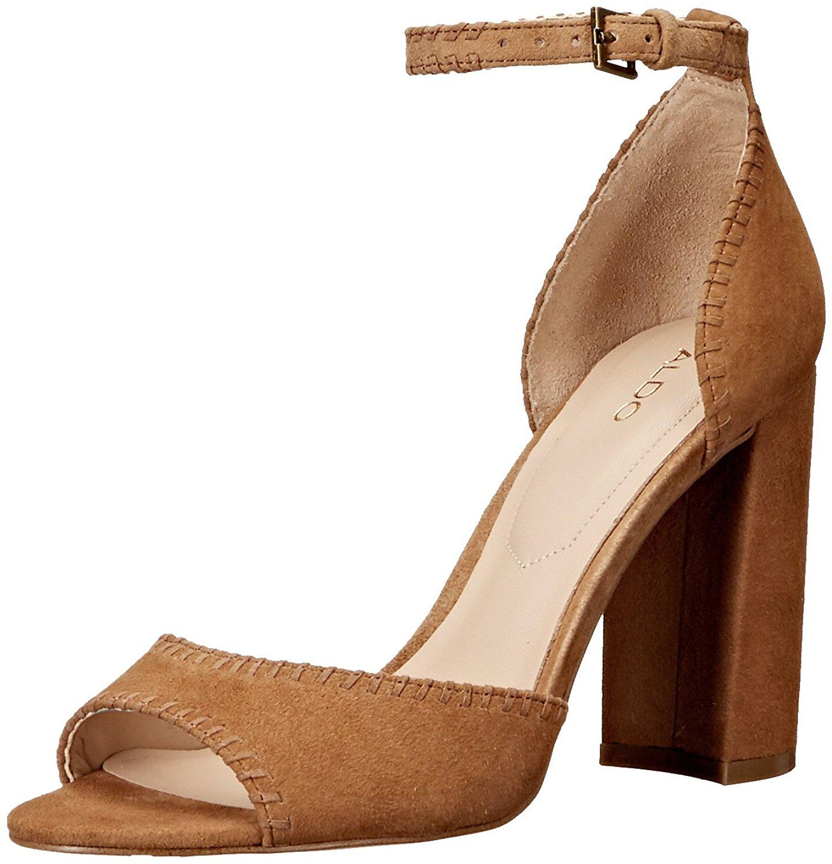 f6e1722a83e Aldo Elvyne Womens Heeled Sandals Cognac 10 US   8 UK 627898475682 ...