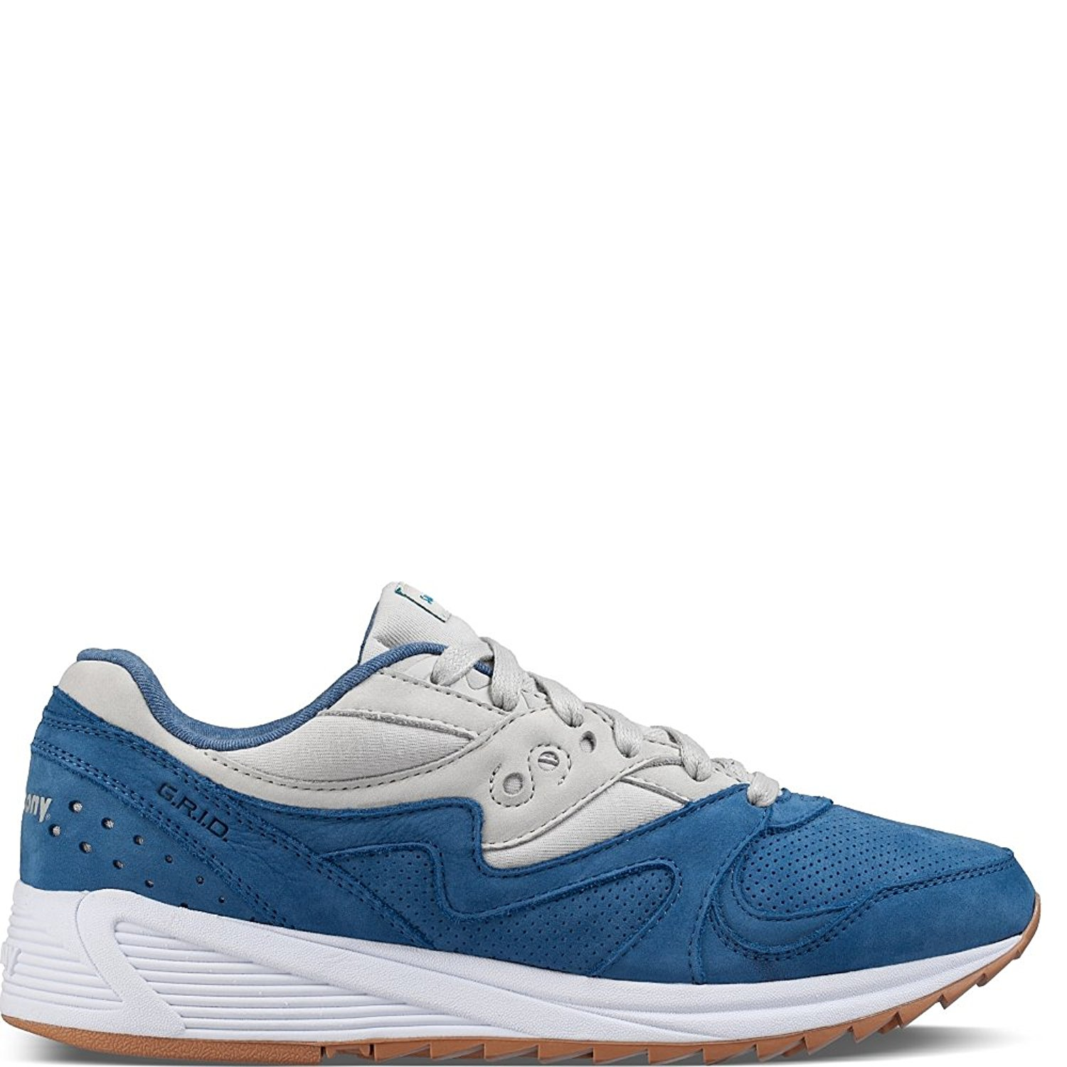 d409bc9ad433 Details about Saucony Mens Grid 8000 Low Top Lace Up Fashion Sneakers