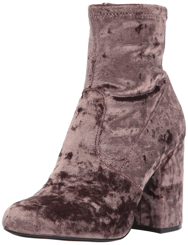 c0e5b1333f1 Steve Madden Womens Gaze Velvet Round Toe Ankle Fashion Boots