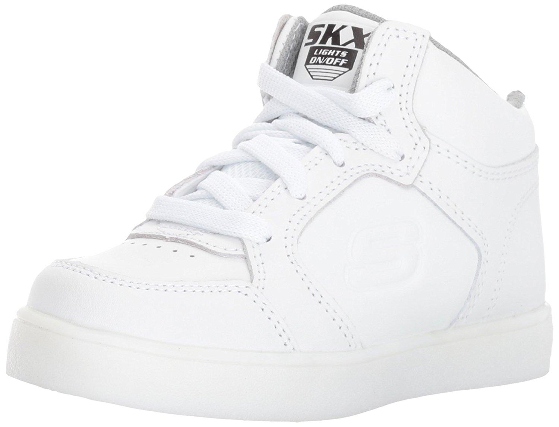 Dettagli su Kids Skechers Boys Energy Lights Low Top Lace Up Walking Shoes, White, Size 12.0