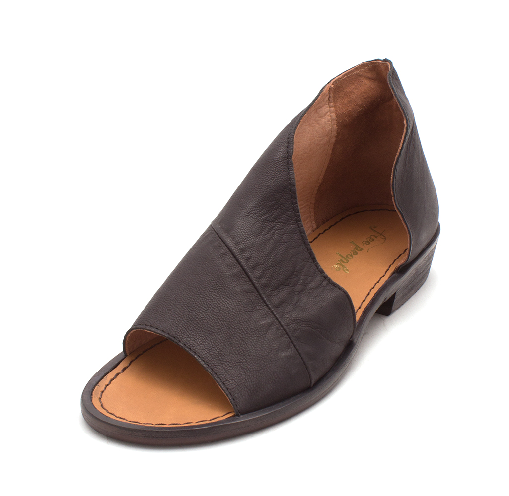 cd8024fce137a Details about Freepeople Womens Mont Blanc Leather Open Toe Casual Slide  Sandals