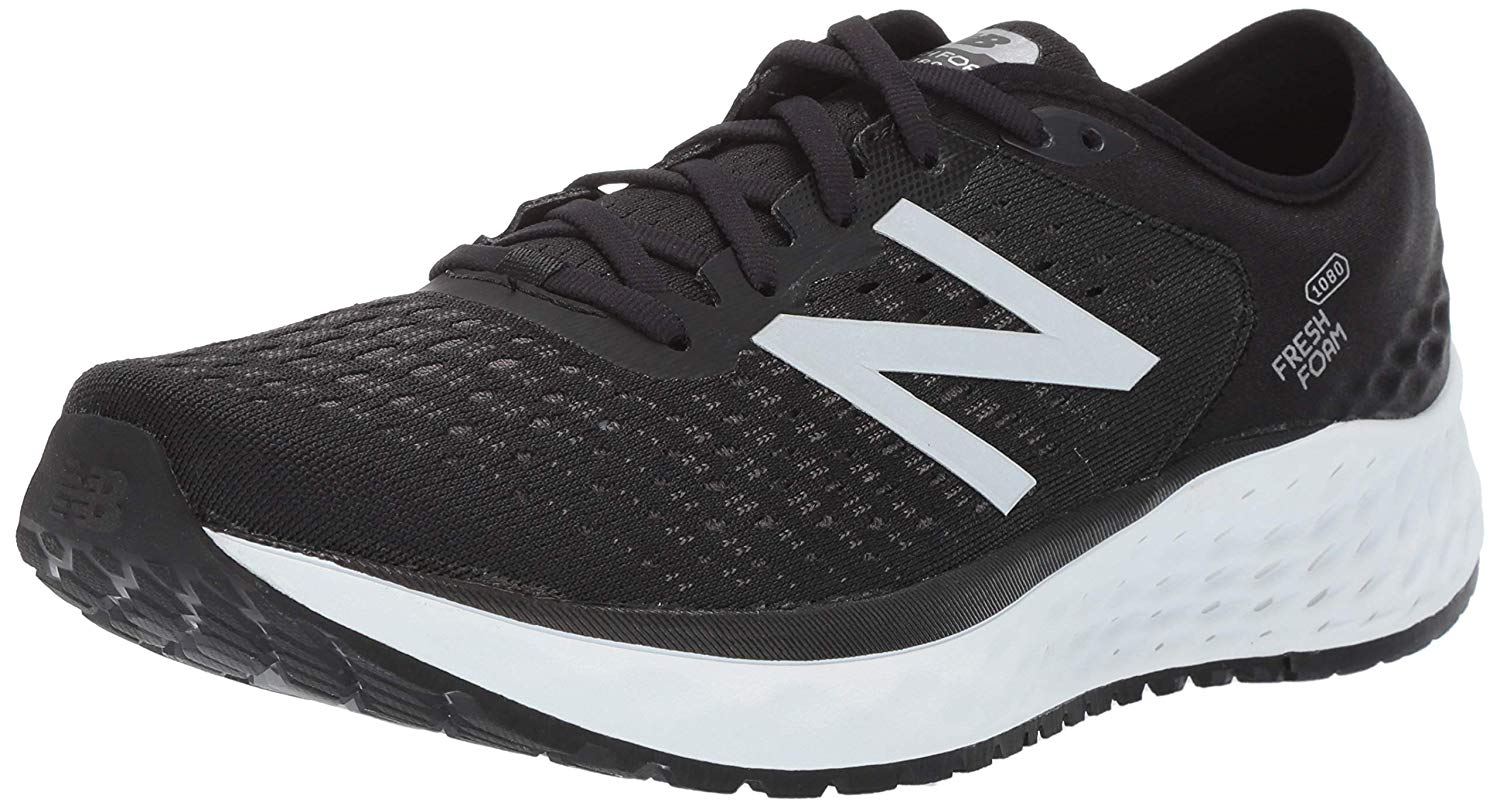 Details about New Balance Mens M1080BK9 Canvas Low Top Lace Up Running,  Black/White, Size 11.5