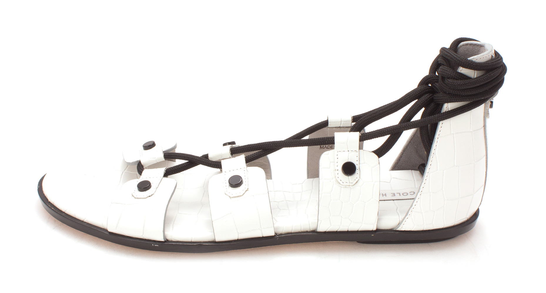 Cole Haan Womens 14A4039 Open Toe Casual Slide Sandals Optic White Size 60