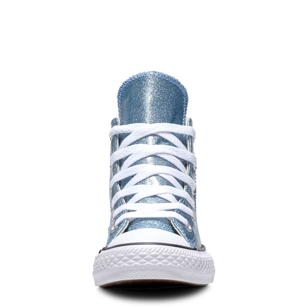 785abae1e56cd2 Details about Converse Chuck Taylor All Star High Top Girls Athletic Shoes  Light Blue Natural
