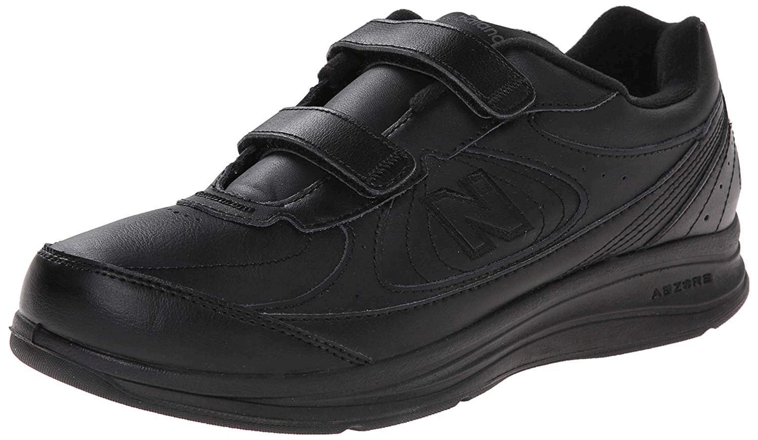 Details about New Balance Mens MW577 Leather Low Top Lace Up Walking Shoes, Black, Size 11.5 h