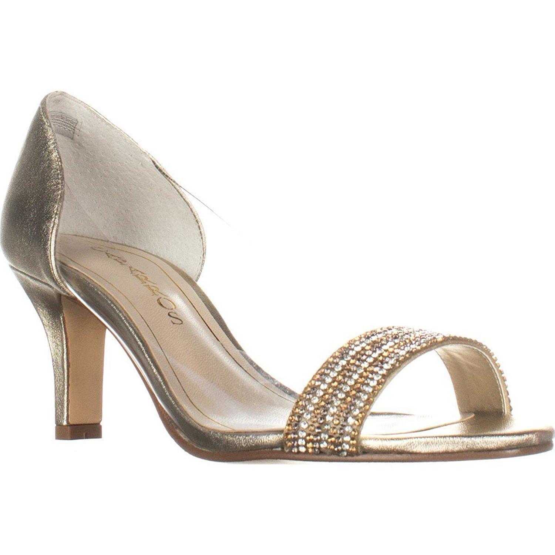 5b546c23d7c Caparros Fancy Peep-Toe Embellished Evening Pumps - Platino Metallic ...
