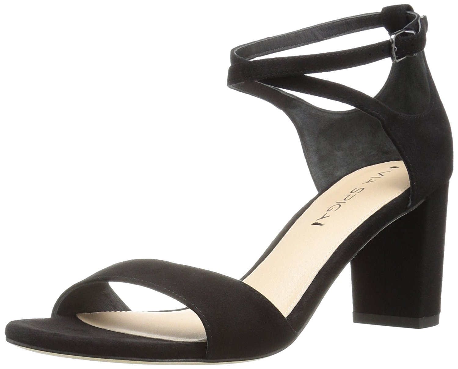 Via Spiga Womens Wendi Open Toe Casual Ankle Strap Black Suede Size 100