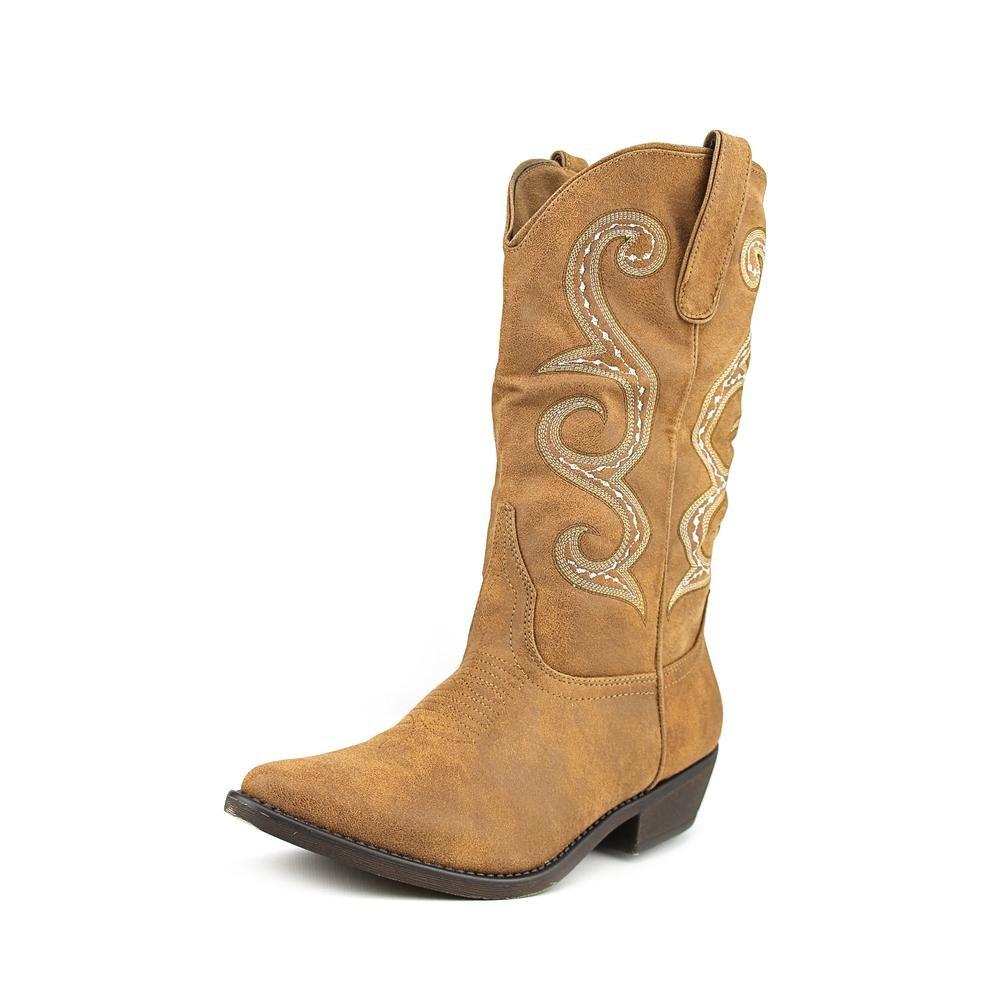 American Rag femmes DAWNN Pointed Toe Mid-Calf Cowboy bottes, Natural, Taille 8.0 x