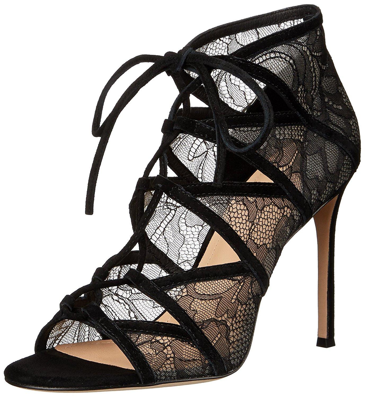 Pour La Victoire Womens Eleryls Open Toe Formal Strappy Black Lace Size 90