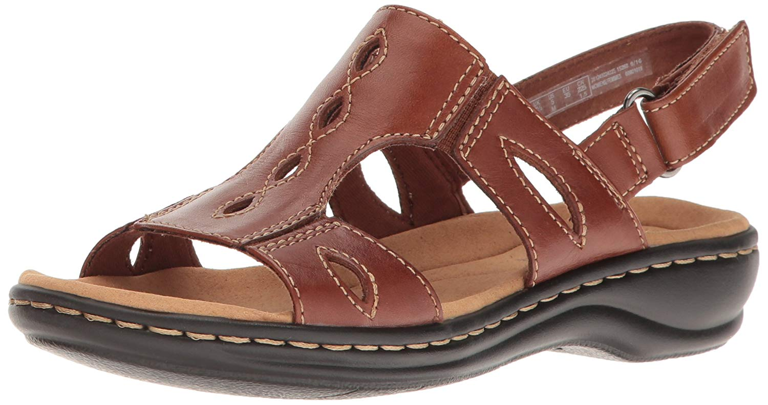 002fde4a87e9 Clarks Leisa Lakelyn Womens Flat Sandals Tan Leather 7 US   5 UK N ...