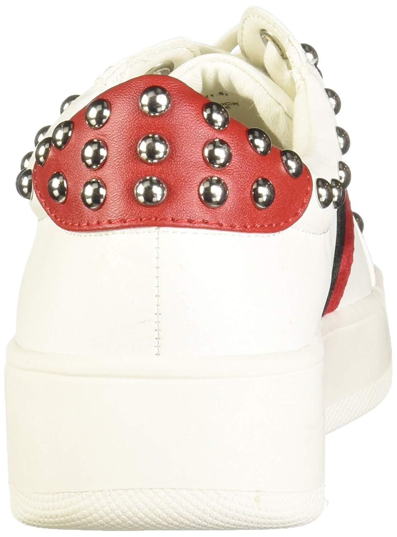 6b1c2222b Steve Madden Women's Belle Sneaker, White/Multi, Size 8.5 bDku US / 6.5 UK