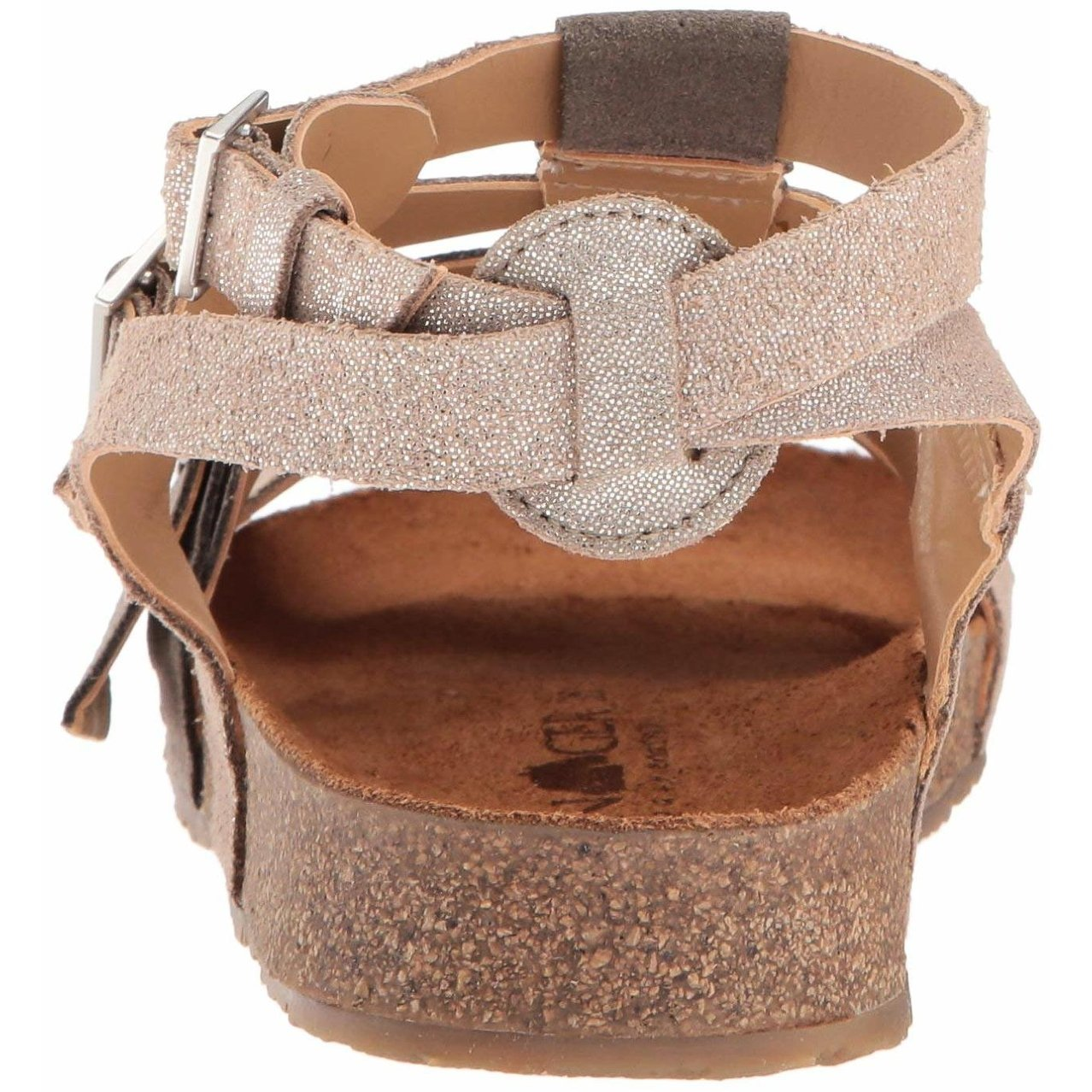 2e1169717 Haflinger Womens bio mana Fabric Open Toe Beach Ankle Strap
