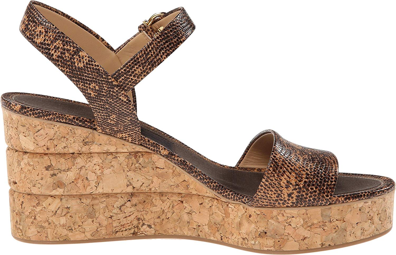 6066eb2209e Salvatore Ferragamo Madea Womens Platform Sandals Sienne Lizard Calf ...