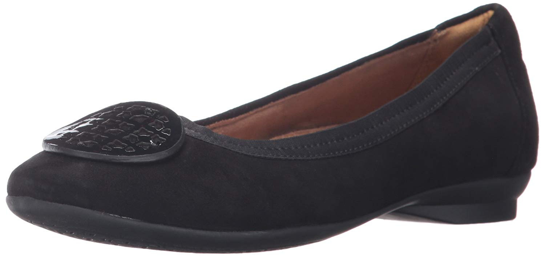 CLARKS Damenschuhe Candra Blush  Leder Closed Toe Slide Flats    Blush  5972bd