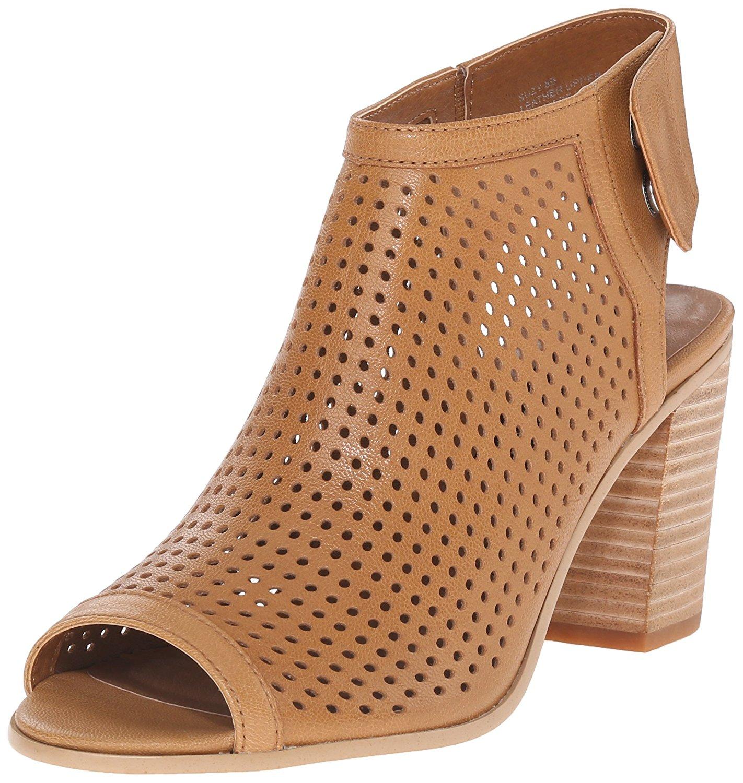 d03888467bd Details about STEVEN by Steve Madden Womens suzy Peep Toe Ankle Strap  Mules, Tan, Size 8.0 6Cs
