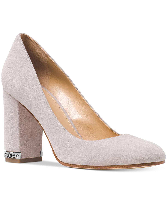 7b6db6fe5a2f Michael Michael Kors Womens Jamie Leather Round Toe Classic Pumps