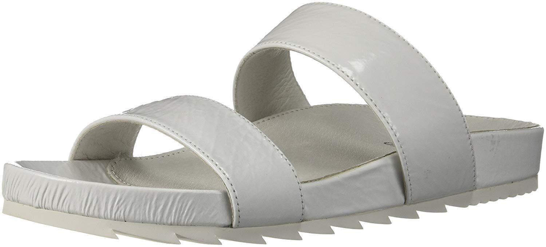 women J Slides Edie color white White Cracked size 39.5 EU   8.5 US