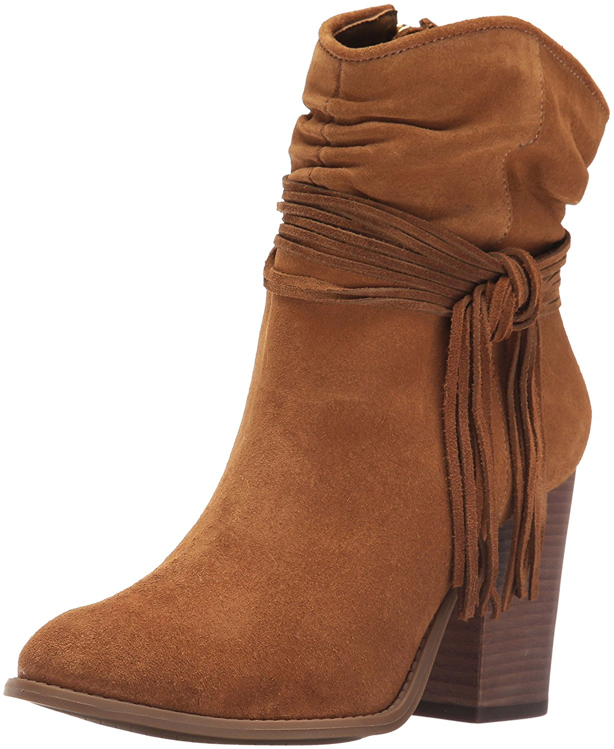 Jessica Simpson Womens Sesley Ankle Bootie Canela Brown Size 75