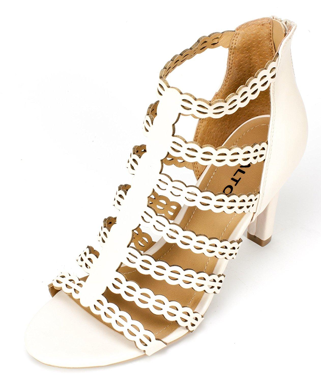 Rialto Womens Roma Open Toe Casual Strappy Sandals Linen Size 50 pUjk