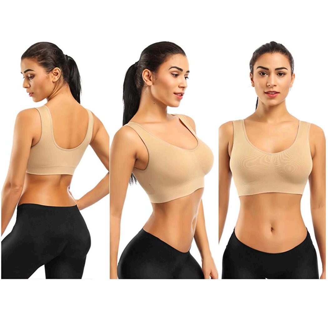 Sports Bras for Black White Nude Size Xx-large Fit 36ddd