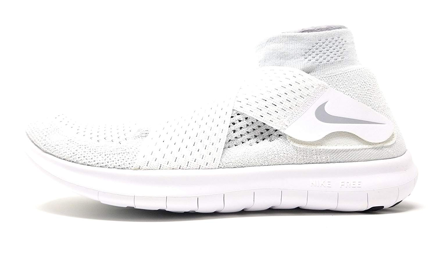 reputable site 28236 19462 Nike Free RN Motion FK 2017 Mens Athletic Shoes White/Wolf Grey-pure ...