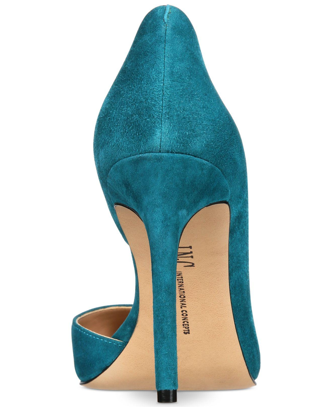 INC-International-Concepts-Womens-Kenjay-Leather-Pointed-Toe-D-orsay-Pumps thumbnail 8