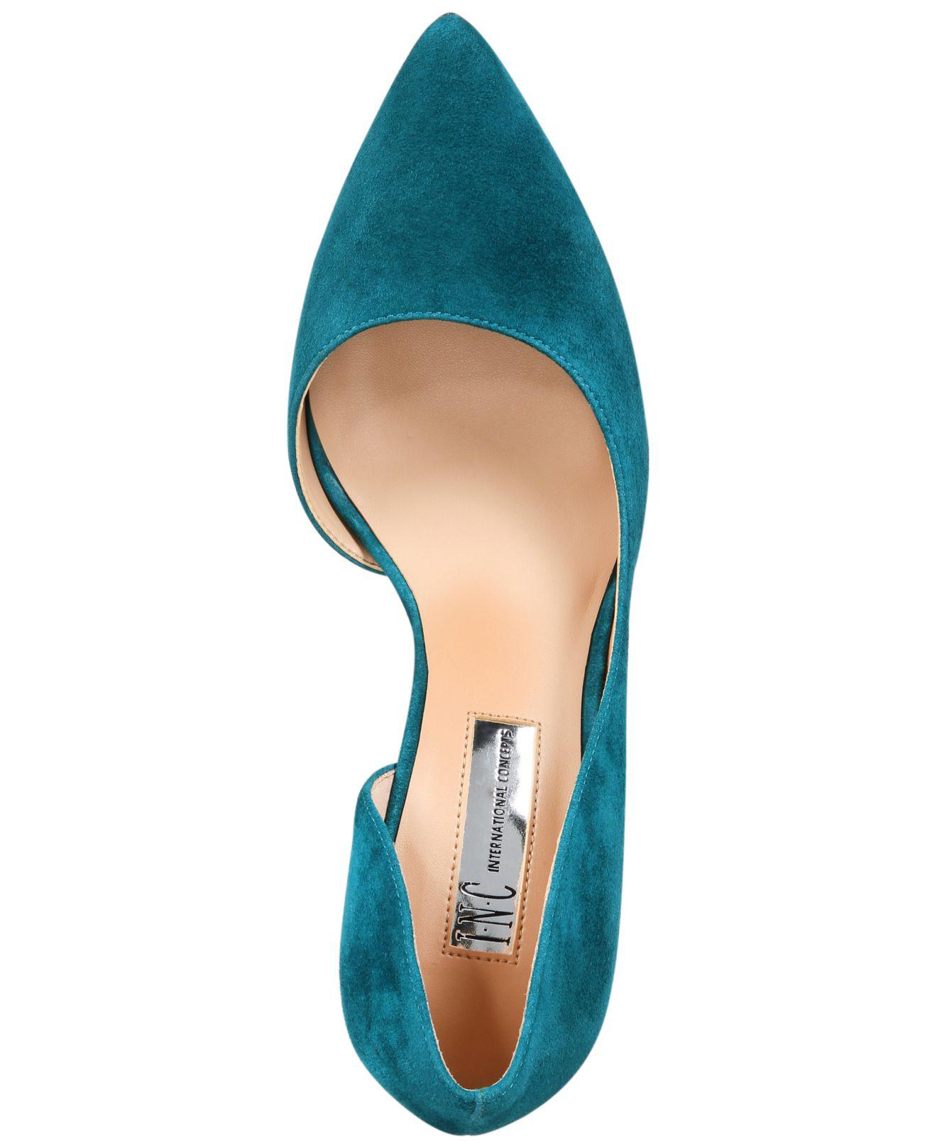INC-International-Concepts-Womens-Kenjay-Leather-Pointed-Toe-D-orsay-Pumps thumbnail 7