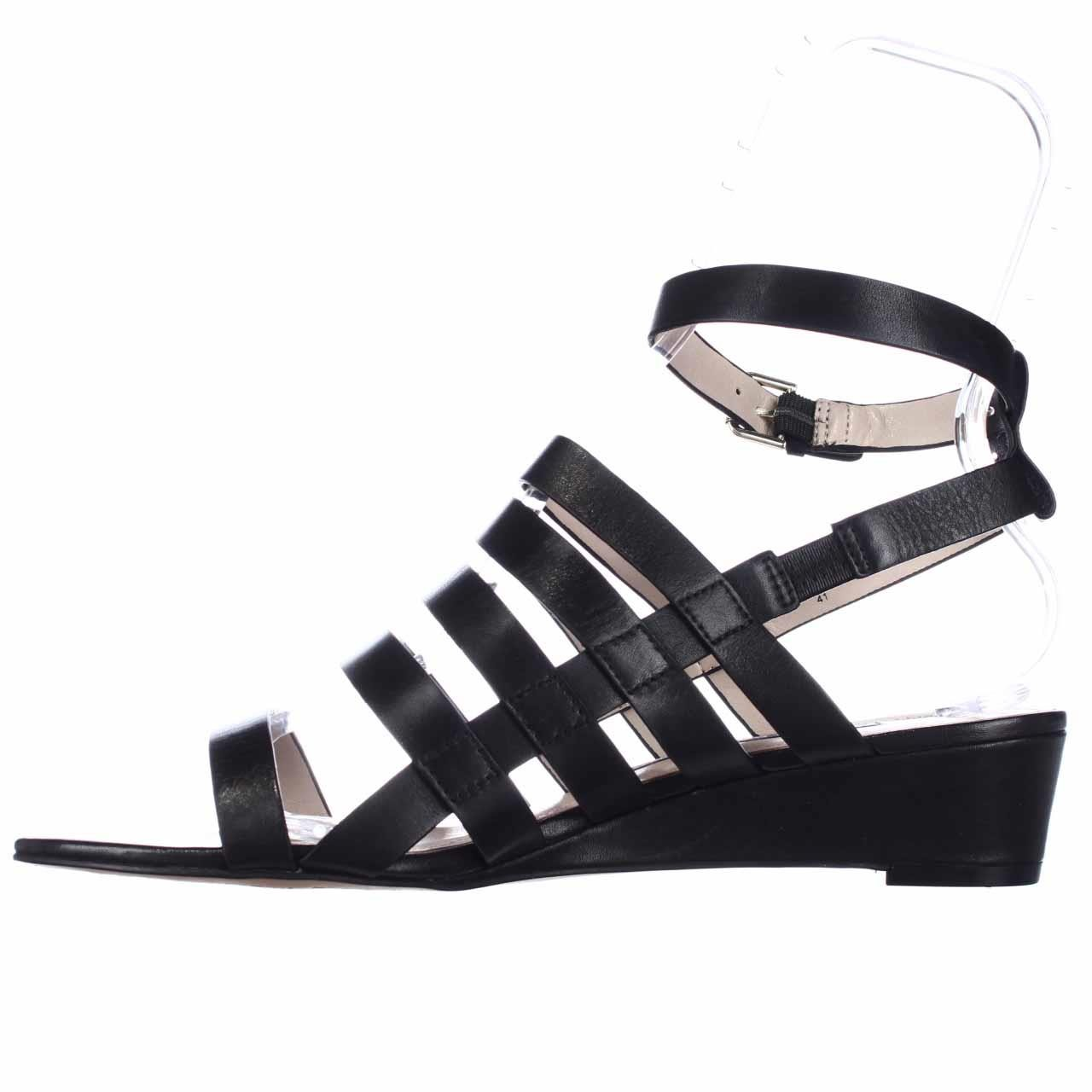 944092f8c74 Details about French Connection WINONA Womens Wedged Sandals Black Black  Black 8.5 US   6.5 U