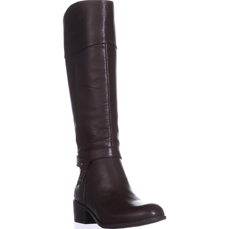1d0f3229e5e18 Alfani Womens Berniee Leather Closed Toe Knee High Fashion Cold Brew ...