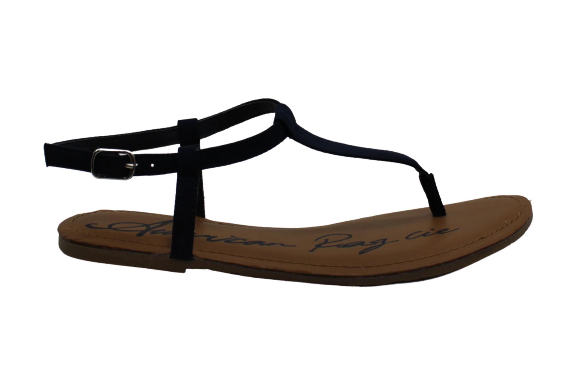 American Rag Womens Krista Open Toe Casual T-Strap Sandals Blue Size 8.0 M US