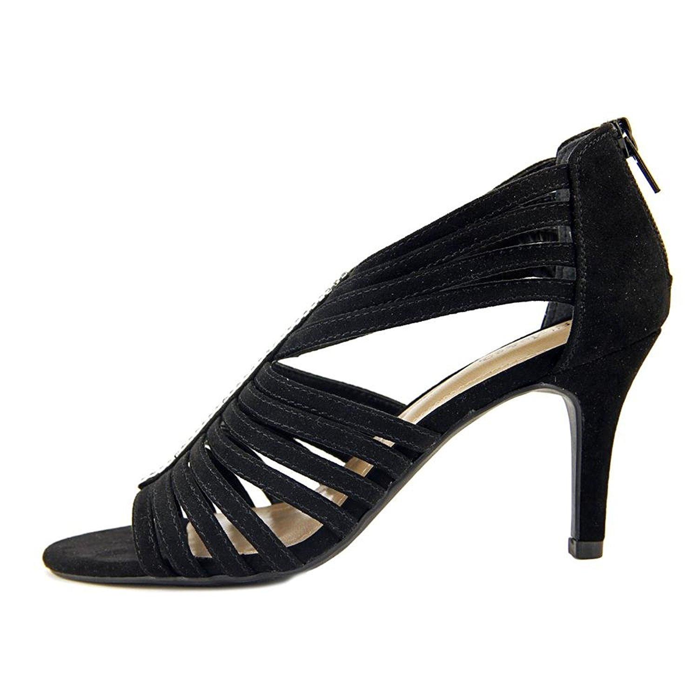 Style Co Shaynaa Women Open Toe Synthetic Gray Sandals Black Size 60
