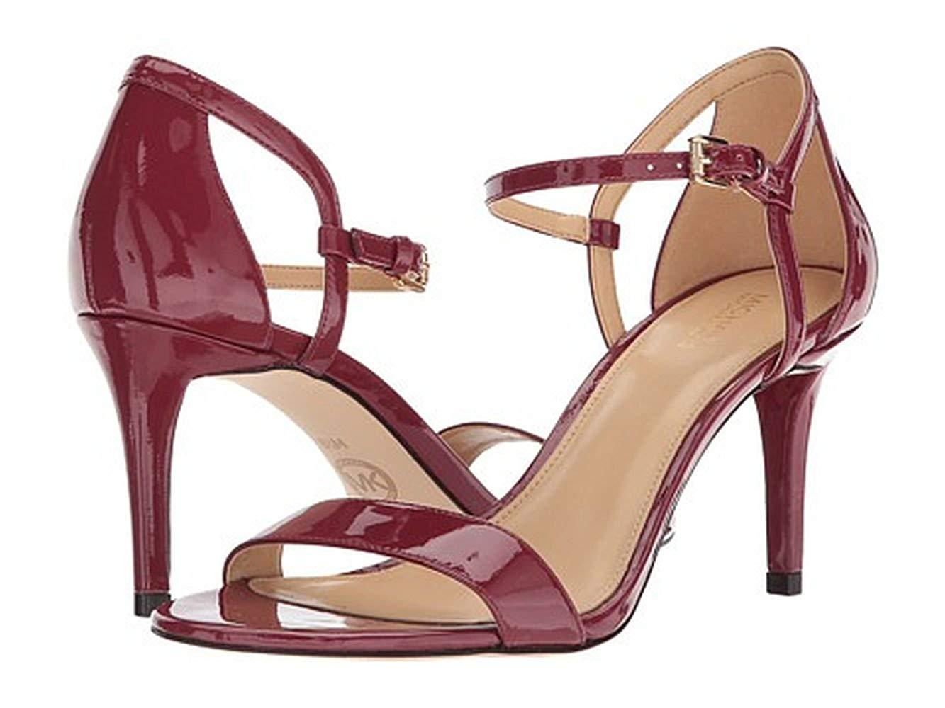 21755b36719d Details about MICHAEL Michael Kors Womens Simone Mid Leather Open Toe