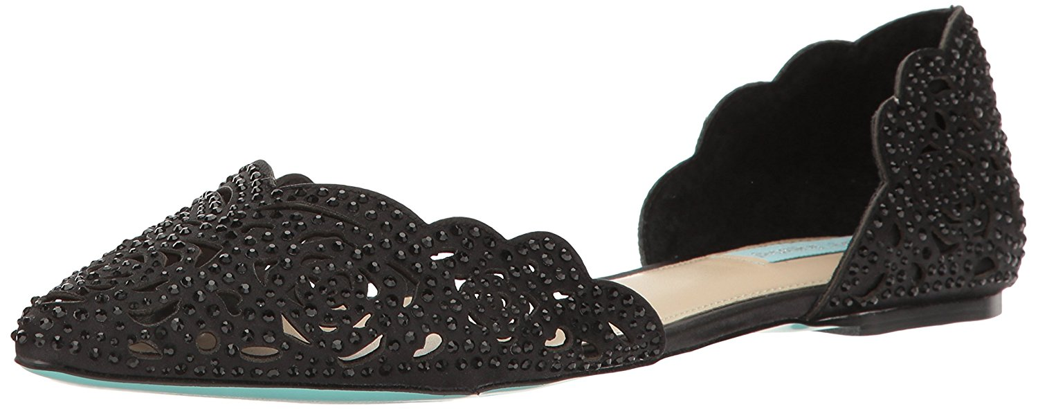 Betsey Johnson mujer Lucy Leather Pointed Toe Bridal Slide Sandals