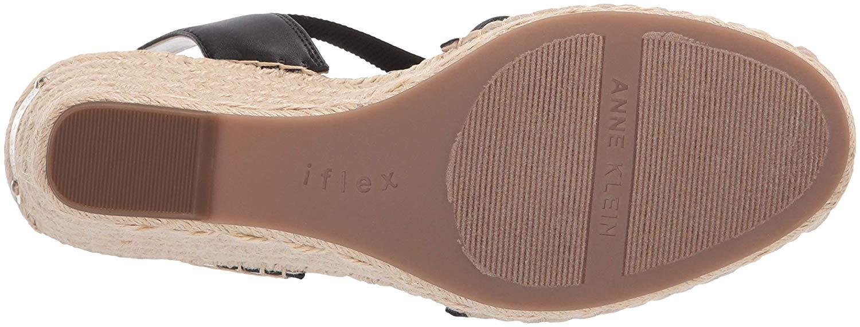 6a1f6447285 Details about Anne Klein Women's Aneesa Espadrille Wedge Sandal, Black,  Size 6.5 NsUo