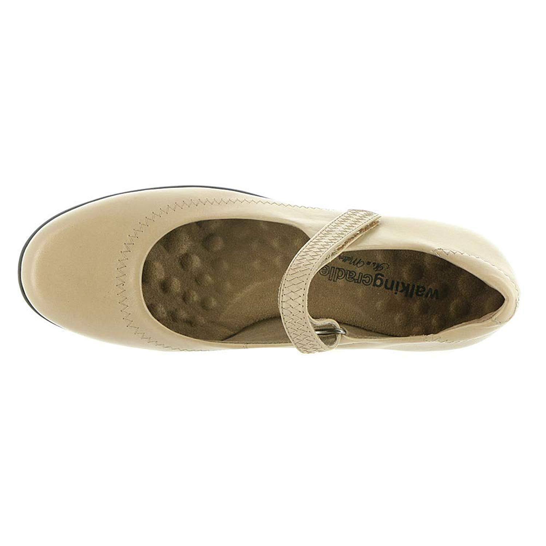 Mary Jane Womens Toe Pelle Flats Walking chiusa Cradles xqYZSUwO