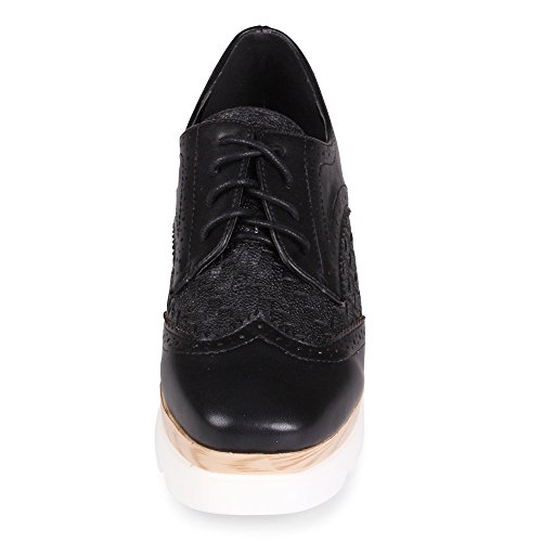 c48b3e50340 Wanted Gallaway Lace up Platform Wedge Oxford