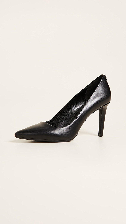 MICHAEL Michael Kors Womens Dorothy Flex Pumps Leather Pointed Black Size 8.0