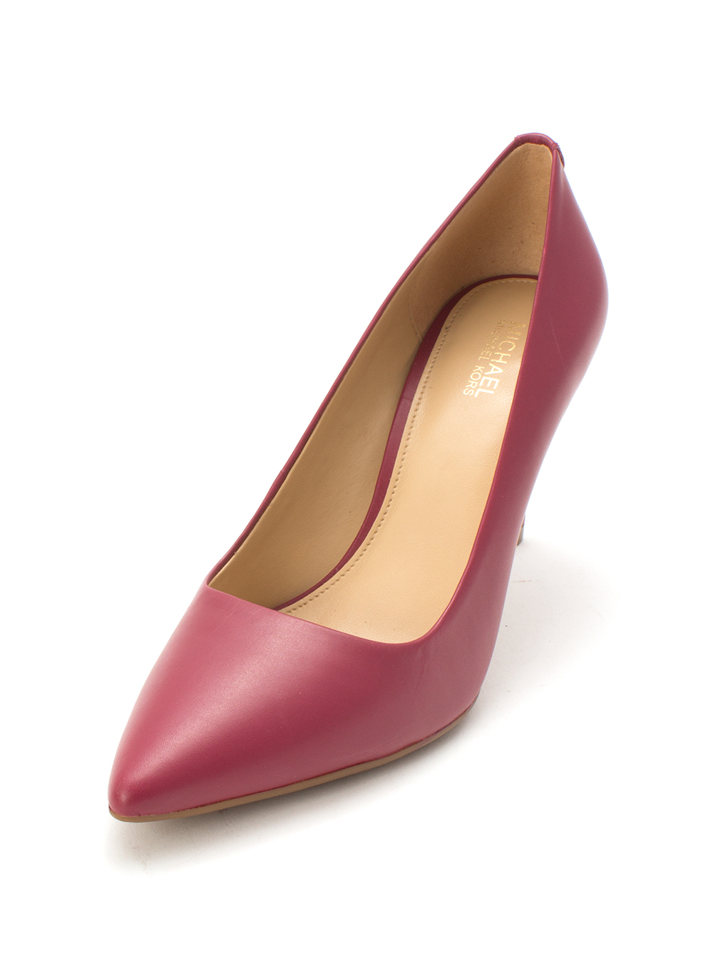 71c22ff5fce0 Michael Kors Womens Dorothy Leather Pointed Toe Classic Pumps
