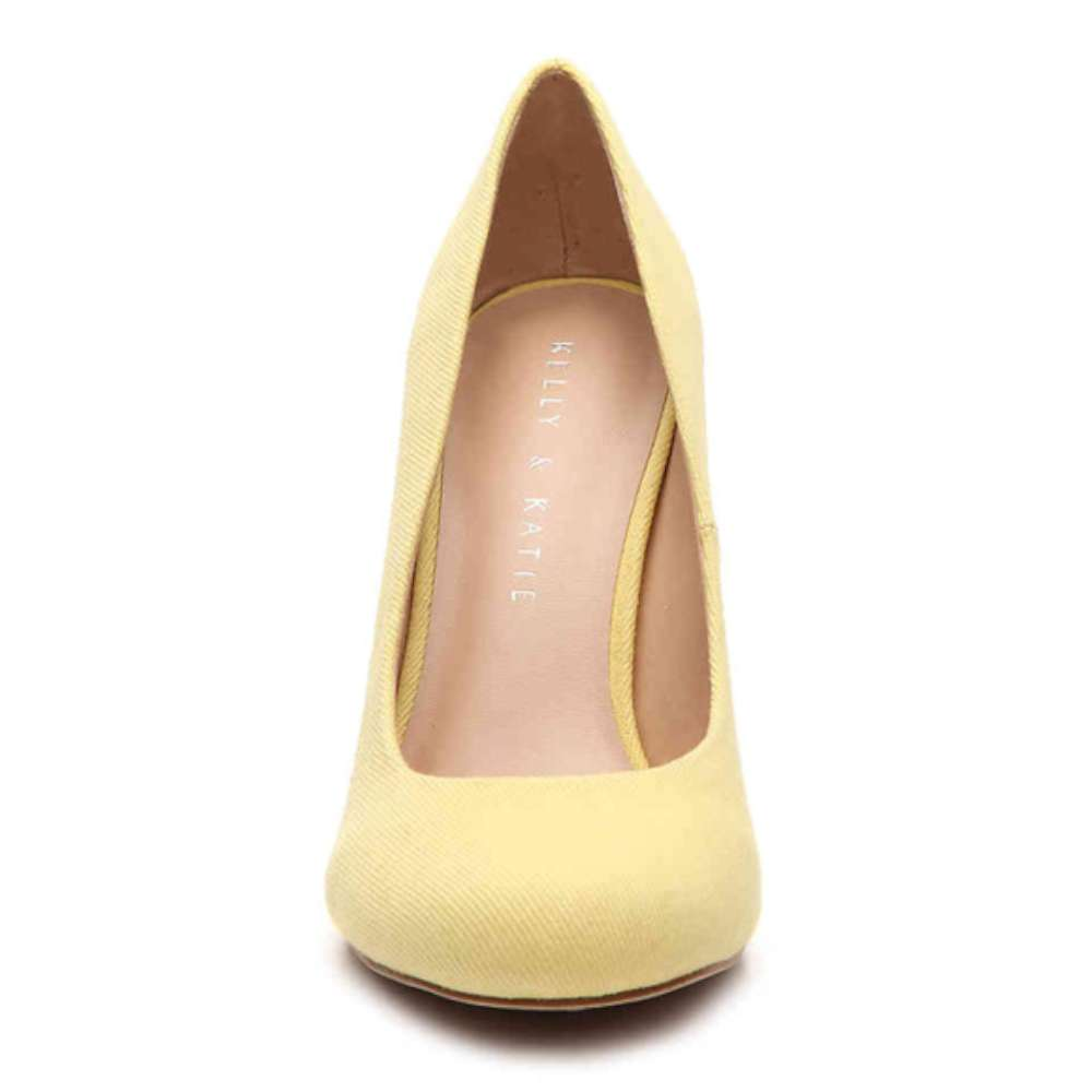 Kelly & Katie Womens Coderno Fabric Closed Toe Classic Pumps Yellow Size 10.0