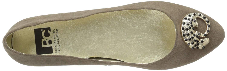 BC Footwear Donna tempo Taglia piatto, Argilla, Taglia tempo 8.5  /6.5 UK 2e0f20