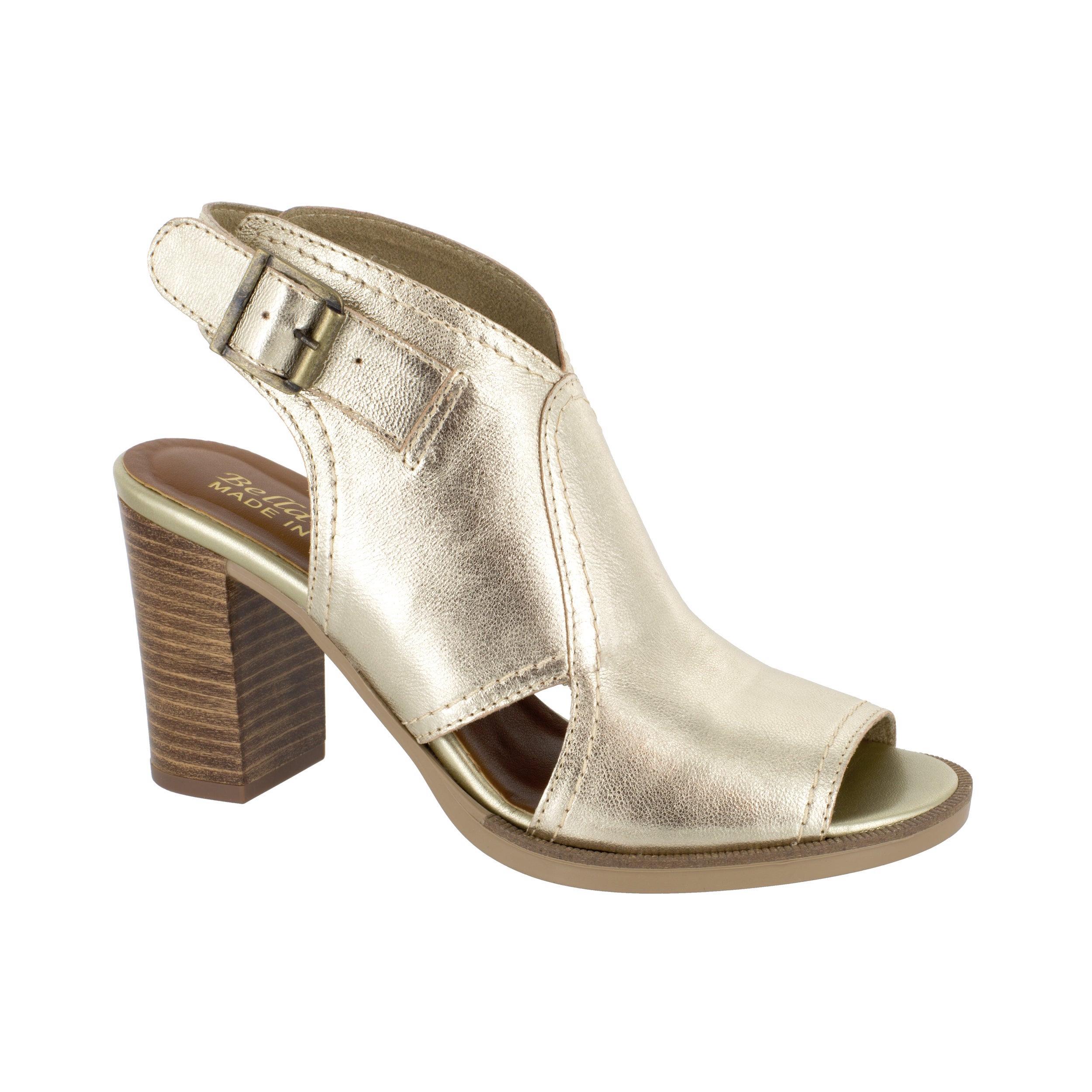 Bella Vita Womens Vivitaly Open Toe Casual Ankle Strap Black Leather Size 5.0