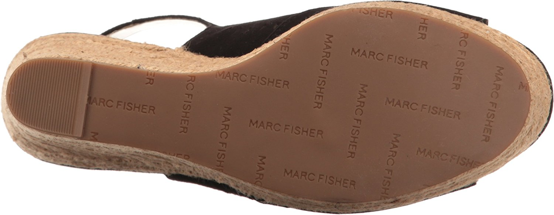 Marc Fisher Frauen Harlea Peep Toe leger leger leger Leder Sandalen mit Keilabsatz 62cf67