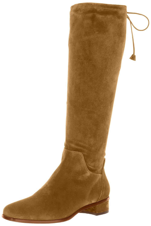 Aquatalia Women's Lisandra Suede Over The Knee Boot, Walnut, Size 9.0