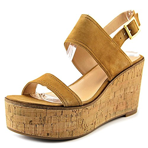 Steve Madden Womens Caytln Leather Open Toe Casual Platform Sand Size 100